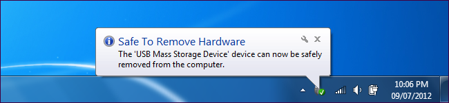 """click on the """"Safely Remove Hardware"""""""