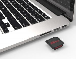 SD card reader and SD card slot on your computer